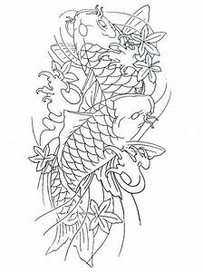 Two Koi Fish Outline | www.pixshark.com - Images Galleries ...
