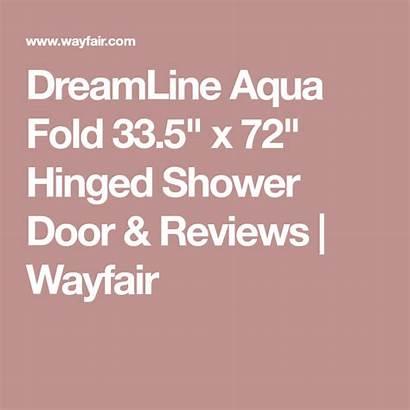 Shower Frameless Aqua Rocky Fold Door Wayfair