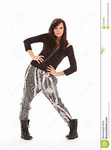 Urban Fashion Model Girl Strikes A Pose Royalty Free Stock ...
