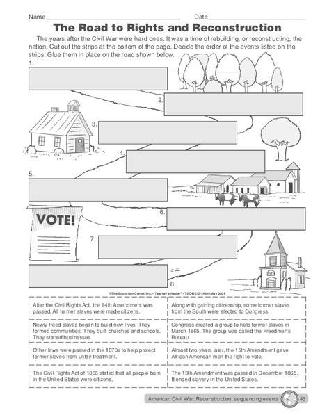 Reconstruction Amendments Worksheet Answers Rcnschool