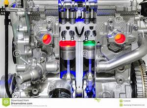 Car Engine With Piston Stock Photo  Image Of Power
