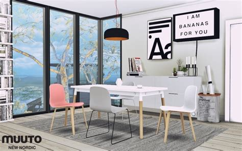 nordic dining furnitures  mxims sims  updates