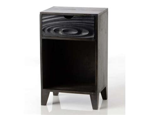 Table De Nuit Noir by Chevet Noir Contemporain Eb 232 Ne Amadeus