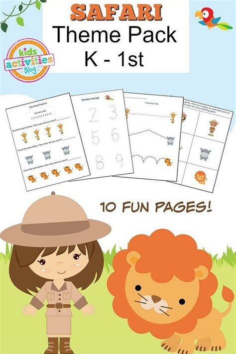 safari preschool theme safari printable kindergarten worksheet pack 469
