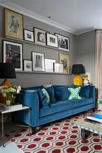 Sofa Samt Blau : wohnideen f r zimmergestaltung erfrischen sie ihr zuhause ~ Sanjose-hotels-ca.com Haus und Dekorationen