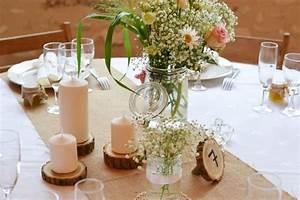 Table Mariage Champetre : decoration table mariage theme champetre ~ Melissatoandfro.com Idées de Décoration