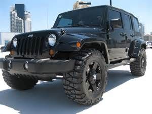 Black Jeep Wrangler Unlimited Lifted