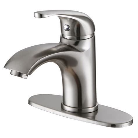 faucet for sink in bathroom elite 57201bn luxury short brushed nickel single handle