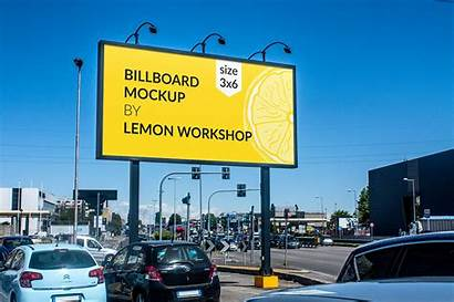 Billboard Mockup Advertising Simple Mock Examples Outdoor