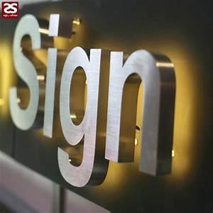 High brightness metal alphabet logo stainless steel for Stainless steel letters buy online