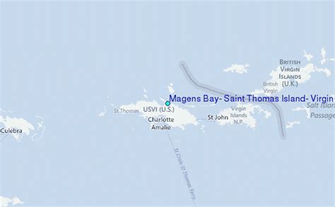 Magens Bay Saint Thomas Island Virgin Islands Tide