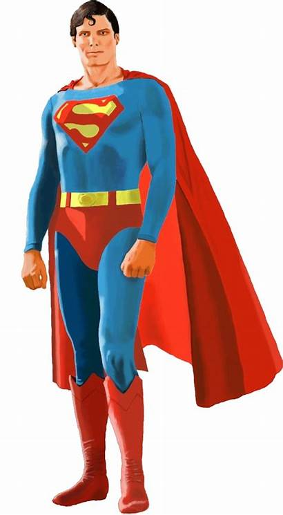 Superman Transparent Superhero Christopher Clipart Reeve Comics