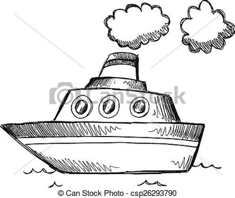 How To Draw A Big Boat Step By Step by Doodle Sketch Big Boat Vector Doodle Sketch Big Boat