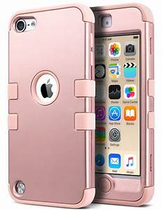 For iPod Touch 5/6th Gen Hybrid Rubber Gel PC Shockproof ...