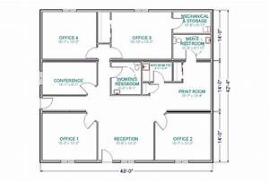 Small-Office Floor Plan   ... room, and a conference room ...