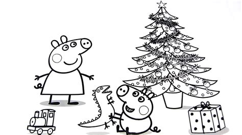 peppa pig christmas coloring pages  kids video  kids