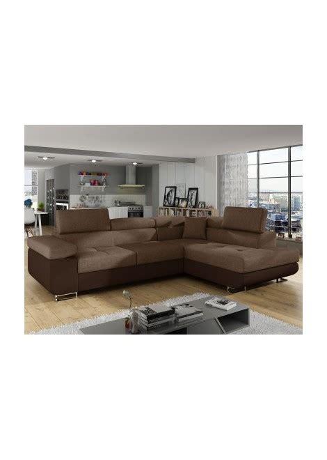 canapé d angle en simili cuir canape d 39 angle convertible en simili cuir marron et tissu
