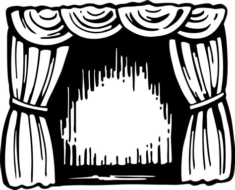 stage clipart black and white theatre images cliparts co