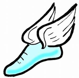 track running shoes clip art