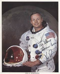 Lot Detail - Neil Armstrong Signed NASA issued 8x10 color ...