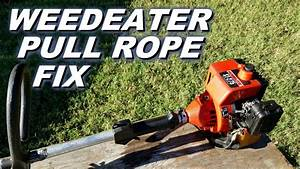 Quick Easy Weedeater Pull String Fix