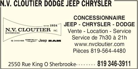 N.v. Cloutier Dodge Jeep Chrysler