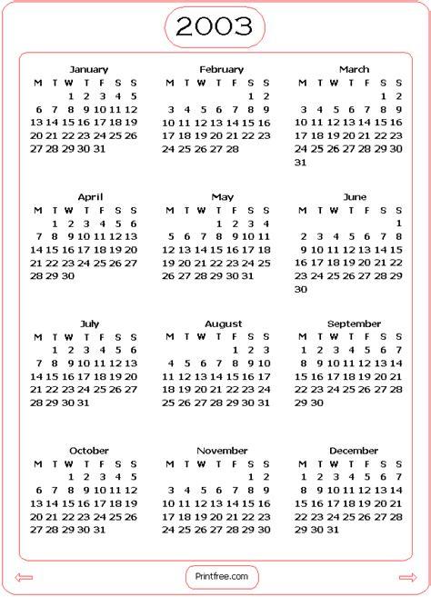 2003 Calendar Ciplatadalafil Info