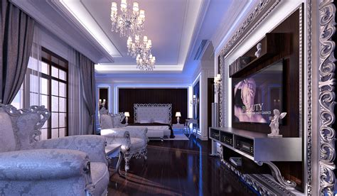 Indesignclub  Glamour Bedroom Interior In Luxury