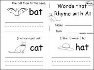 words that rhyme with cat word families enchantedlearning