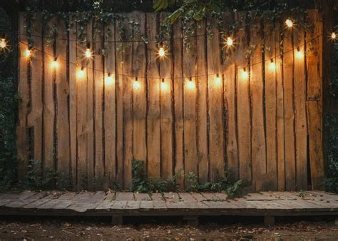 Lights Outdoor Wallpaper by Evening Wooden Stage Garden Ls Leaves Backdrop
