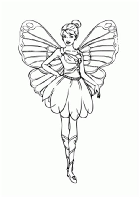 barbie fairy coloring page  girls printable