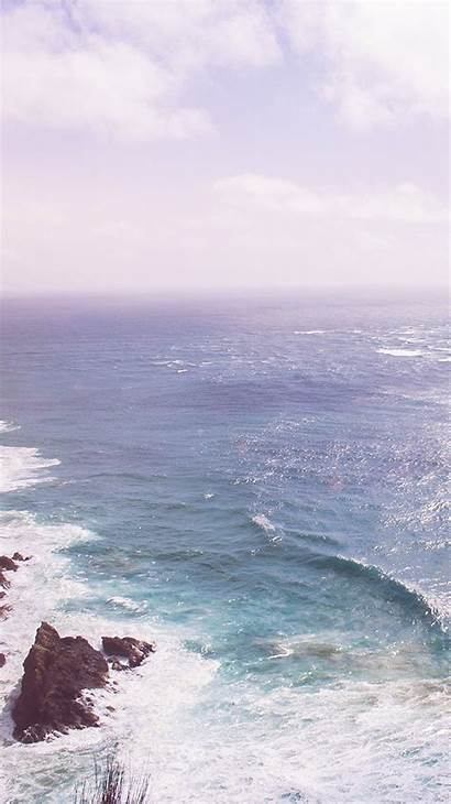 Sea Ocean Deep Wave Nature Rock Flare