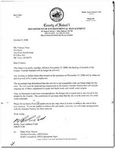Eviction Notice Letter Sample