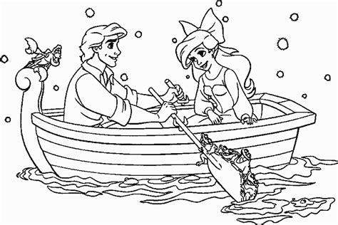 Ausmalbilder Für Kinder Prinz Eric Und Arielle
