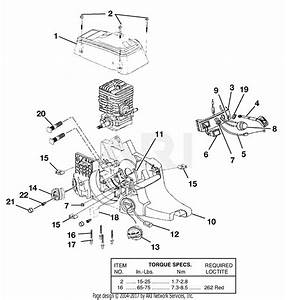 Homelite Ut10530a 16in  33cc Chain Saw Parts Diagram For Engine Housing - Fuel Tank