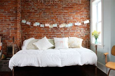 bright bedroom exposed brick wallpaper loft ideas