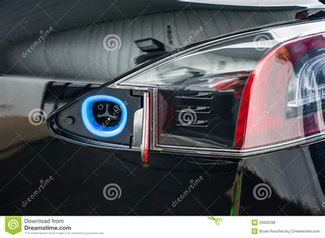 charge 3 0 car charger tesla ev charging port electric car stock photo image