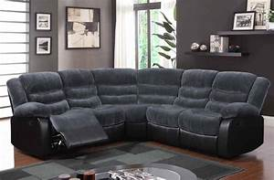 Contemporary champ thunder upholstered fabric sofa for Sectional sofa with leather and fabric