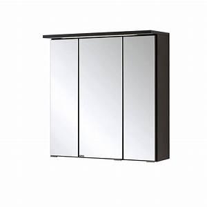 Spiegelschrank 60 Cm Breit : bad spiegelschrank bologna 3 t rig mit led lichtleiste 60 cm breit graphitgrau bad bologna ~ Eleganceandgraceweddings.com Haus und Dekorationen