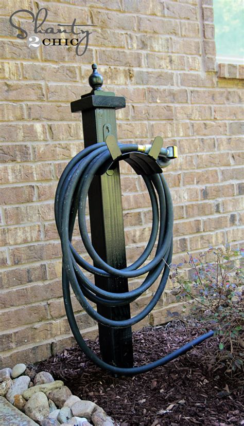 diy address post and hose holder is what it is