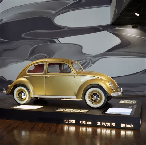 gold volkswagen beetle the millionth vw beetle 1955 utter awesomeness gold