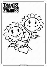 Zombies Coloring Plants Vs Sunflower Printable Twin Adults Zombie Plant Coloringoo Numbers Drive2vote sketch template
