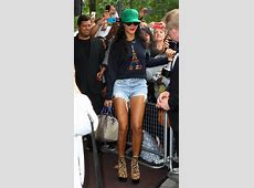 Rihanna wearing KENZO Paris New Era Hat and Eiffel Tower