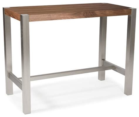modern bar height table riva rectangular counter height table walnut