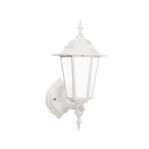 endon 54556 evesham white outdoor led sensor wall light