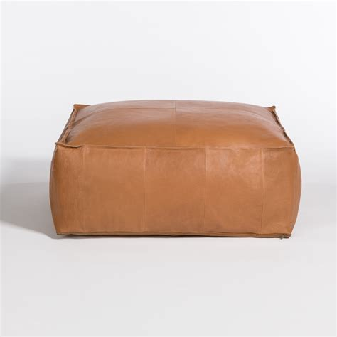 Poufs Ottoman by Palma Leather Ottoman Pouf Eclectic Goods Eclectic Goods