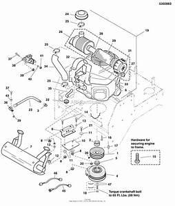 Simplicity 5900526   61 U0026quot  Mower Deck  U0026 R O P S  Parts Diagram For Engine