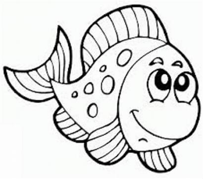 Fish Coloring Pages Cartoon Colouring Preschool Sheets