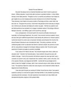 Graduate School Personal Statement Examples