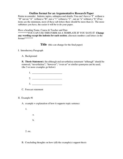 apa research paper outline template 18 best images of sle outline worksheet exle essay outline template informative speech